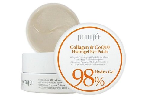 Petitfee Гидрогелевые патчи с коллагеном Collagen & Co Q10 Hydrogel Essence Eye & Spot Patch
