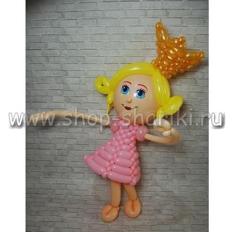 принцесса из шаров с короной shop-shariki.ru