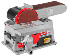 Станок шлифовальный, ЗУБР ЗШС-500, лента 100x914 мм, диск 150 мм, 2950 об/мин, 500 Вт