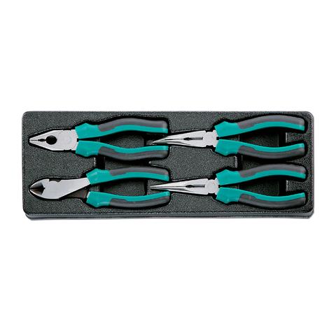 Набор: пассатижи и бокорезы в ложементе, 4 предмета, HONITON IK-PL0040