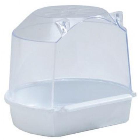 Beeztees купалка для птиц малая белая 13*12*12см