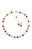 Комплект Carnavale Oro (бронзовые серьги на серебре, ожерелье)