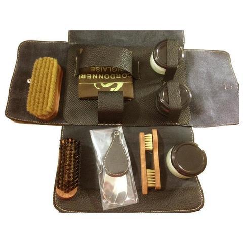 Набор обувной косметики, кожа La Cordonnerie Anglaise (LCA) (Черный, Коричневый)