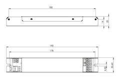 UNILED UMC блок аварийного питания для светодиодных светильников – габаритные размеры
