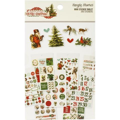 Стикербук 10х17 см Country Christmas Mini Sticker Tablet 390шт