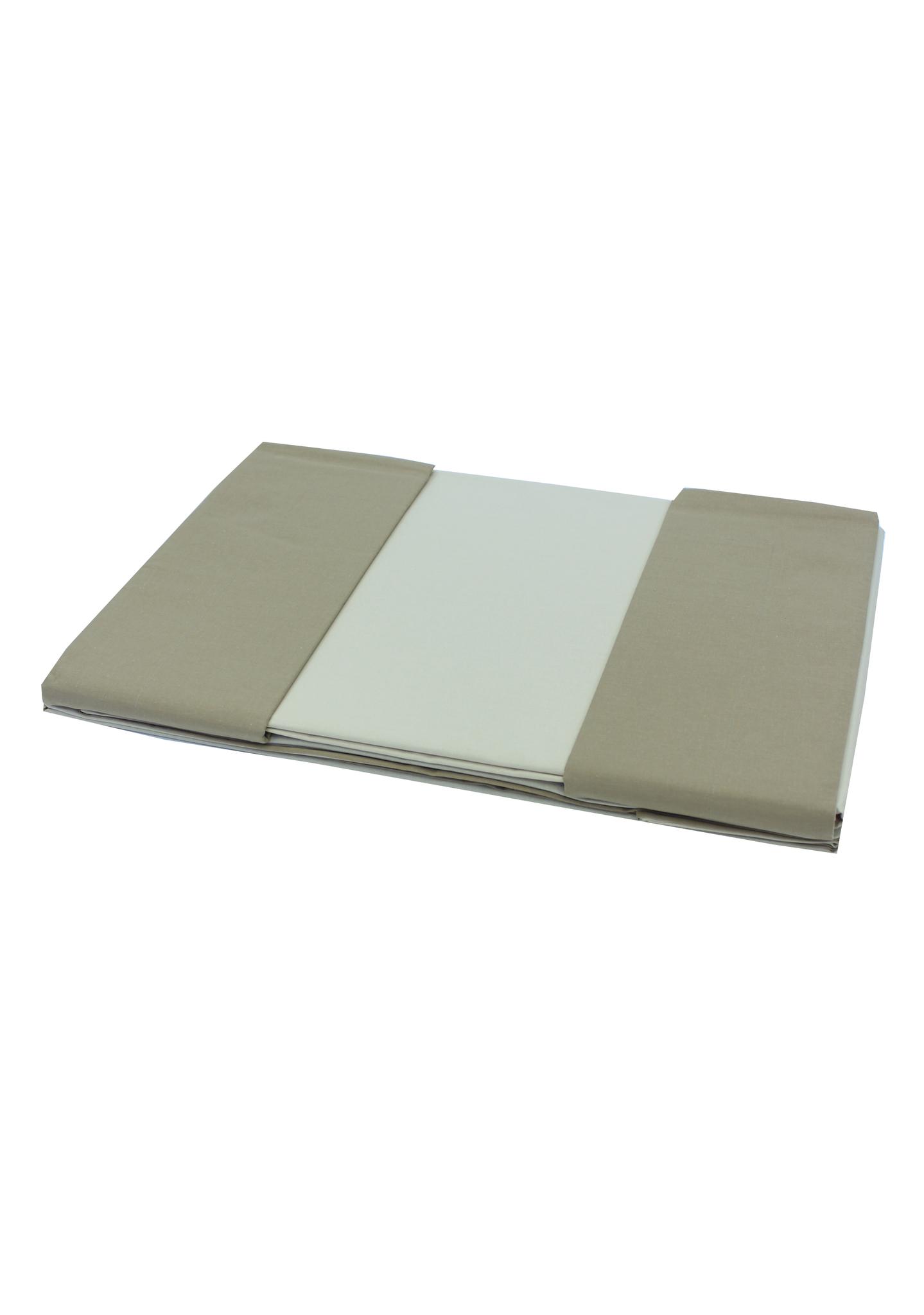 Постельное белье 1.5 спальное Caleffi Bicolor карамель