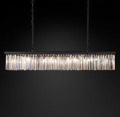 Rhys Clear Glass Prism Rectangular Chandelier 59