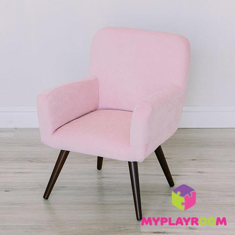 Детское стильное кресло в стиле 60-х, розовое облачко