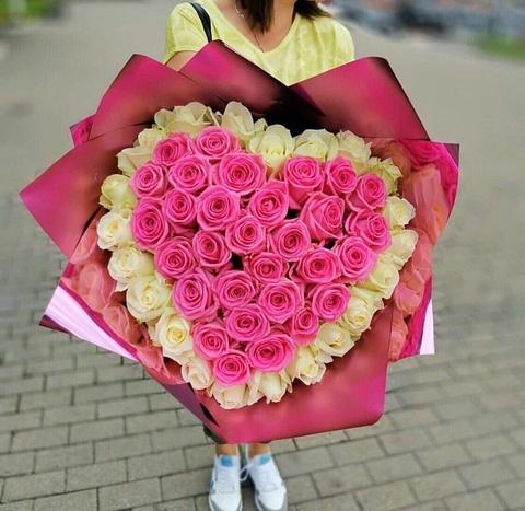 51 роза 60 см сердце#8876