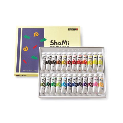 Набор красок акварельных ShinHanart SHAMI WATER COLOR, 10 мл 24 цвета