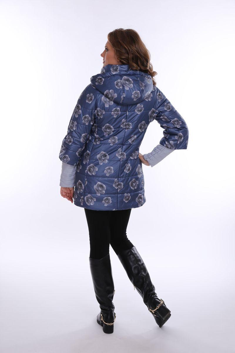 Куртка 07760 син/серые цветы