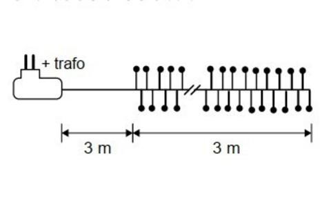 Гирлянда Кластер Luca Lighting теплый белый свет (480 ламп, длина гирлянды 300 см)
