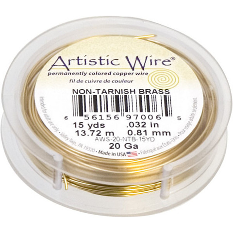 Проволока Artistic Wire 20 Ga (0.812 мм) Non-Tarnish Brass