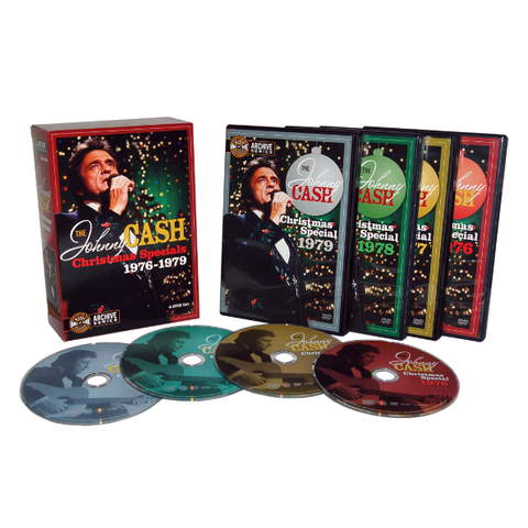 Johnny Cash ‎/ The Johnny Cash Christmas Specials 1976-1979 (4DVD)