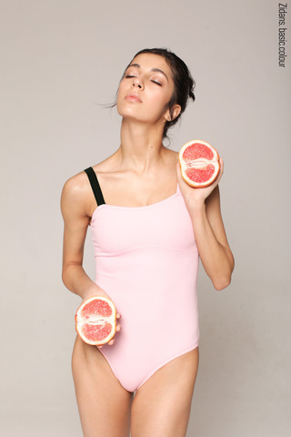 Strap leotard colour | pink