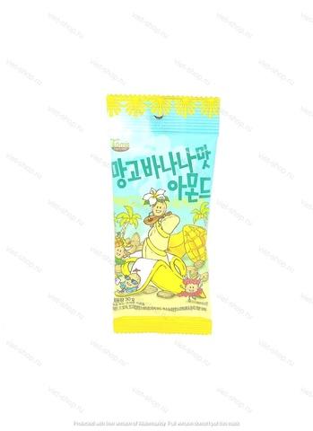 Миндаль обжаренный со вкусом манго и банана, Корея, 30 гр.