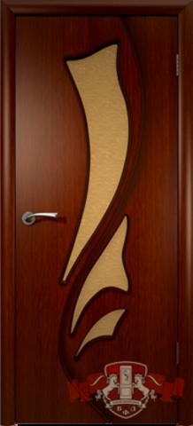 Дверь Владимирская фабрика дверей 5ДО2, цвет макоре, остекленная