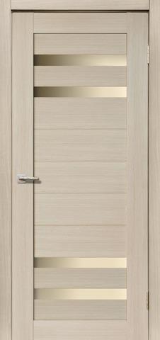 Дверь Дера Мастер 636, стекло белое, цвет беленый дуб, остекленная