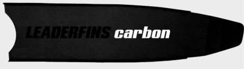 Лопасти Leaderfins Pure Carbon с серой наклейкой