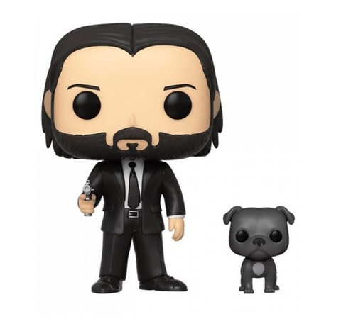 Фигурка Funko POP! Vinyl: John Wick: John (Black Suit) w/Dog 47238