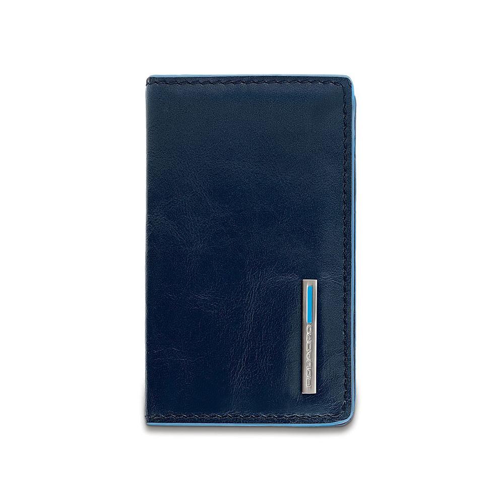 Чехол для кредитных/визитных карт Piquadro Blue Square, цвет синий, 10x6x1,5 см (PP1263B2/BLU2)