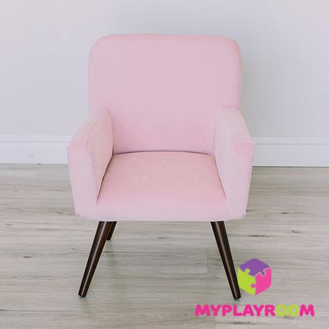 Детское стильное кресло в стиле 60-х, розовое облачко 3