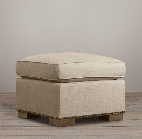 Collins Ottoman With Nailheads