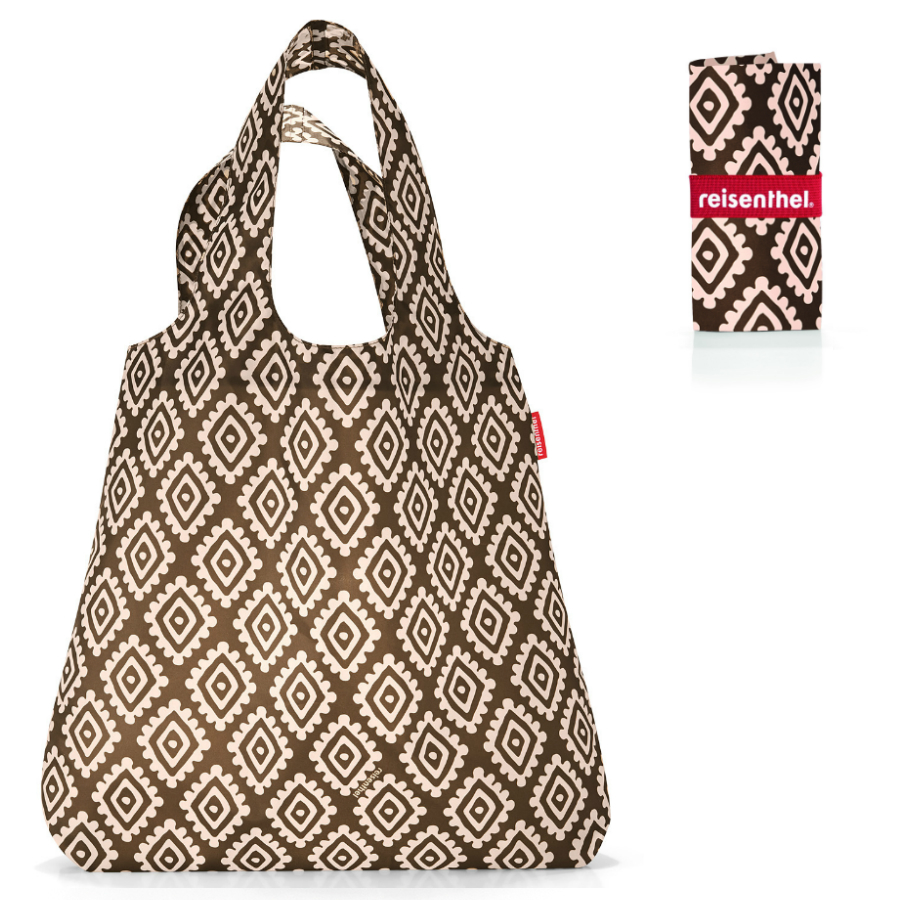 Сумки Сумка складная Mini maxi shopper diamonds mocha Reisenthel a210163760a36d5f470f8162a01c98ff.jpeg