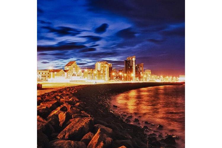 Нейтральный фильтр для GoPro PolarPro Neutral Density пример фото берег