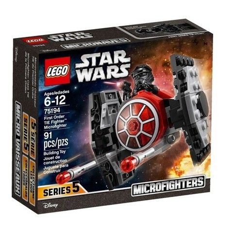 LEGO Star Wars: Истребитель СИД Первого Ордена (микрофайтер) 75194 — First Order TIE Fighter Microfighter — Лего Стар ворз Звёздные войны
