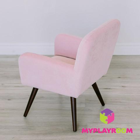 Детское стильное кресло в стиле 60-х, розовое облачко 4