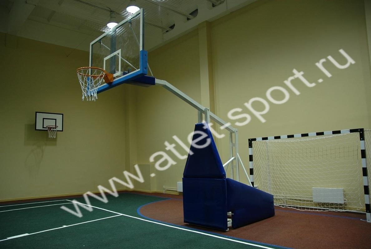 bf5154f4 Стойка баскетбольная профессиональная мобильная складная вынос 2,25м.  «ATLET 225».