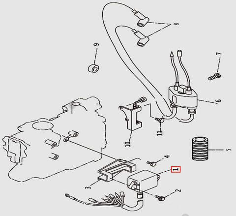 Коммутатор для лодочного мотора T9.8 Sea-PRO (9-1)