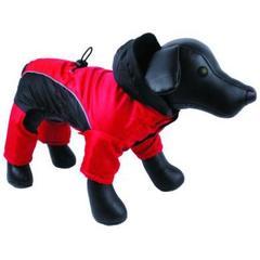 Комбинезон для собак, DEZZIE, теплый красно-черный 25см