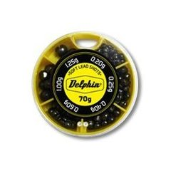 Грузила-дробинки Delphin Soft Lead Shots / 70g - Yellow box