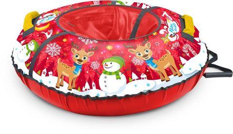 Тюбинг с круговым дизайном Ника ТБ3К 70/78 см Nika Kids зимний (красный)