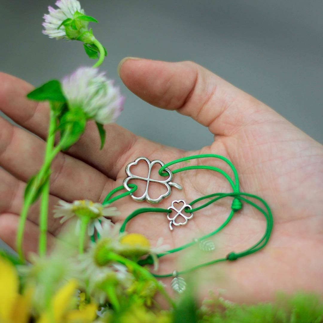 Small Clover Bracelet, sterling silver