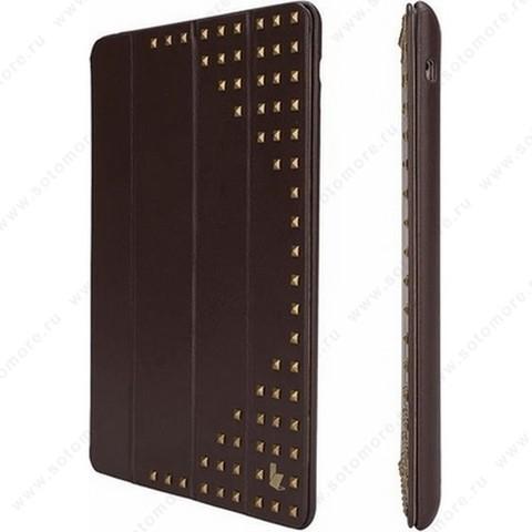 Чехол-книжка Jisoncase для Apple iPad Apple iPad Air 1 с медными заклепками коричневый JS-ID5-04H