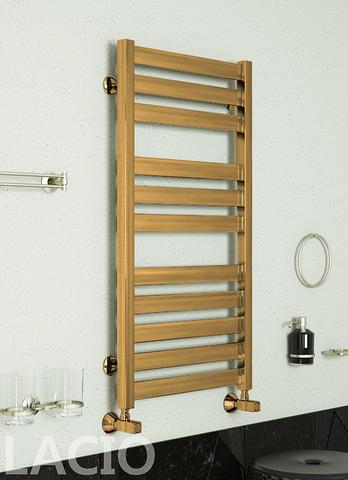 Lacio Bronze - бронзовый полотенцесушитель с квадратным профилем. Бронза