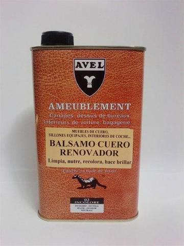 Бальзам для питания и обновления цвета кожаной мебели и салона автомобиля sphr4024 Baume Renovateur, 500мл., AVEL (Авель)  (13 цветов)
