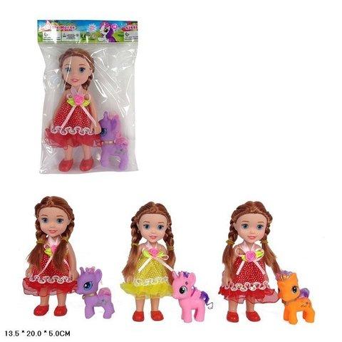 Кукла 6029 + ПОНИ 3вида M986-H42018 в пакете