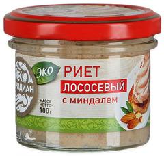 """Риет из лосося """"Меридиан"""" с миндалем, 100 г"""