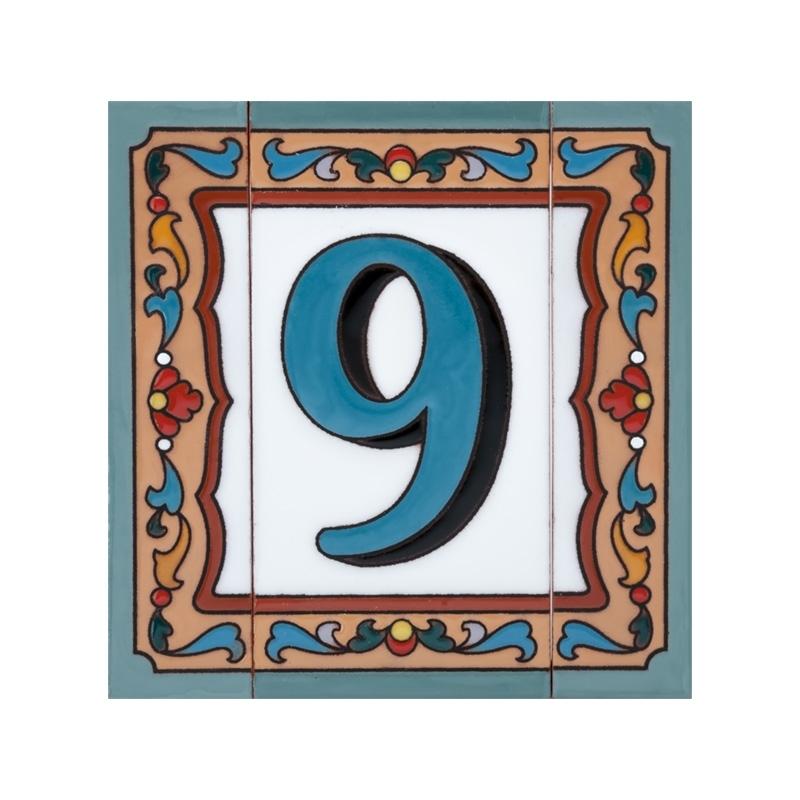 Цифра 9, дополненная узким бордюром
