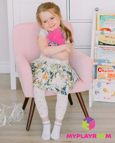 Детское стильное кресло в стиле 60-х, розовое облачко 2