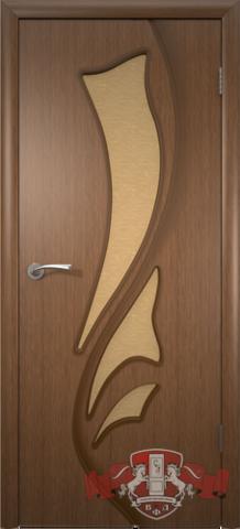 Дверь Владимирская фабрика дверей 5ДО3, цвет орех, остекленная