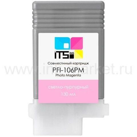Совместимый картридж Canon PFI-106PM для Canon imagePROGRAF iPF6300, iPF6400, iPF6400S, iPF6400SE Photo Magenta (130 мл)