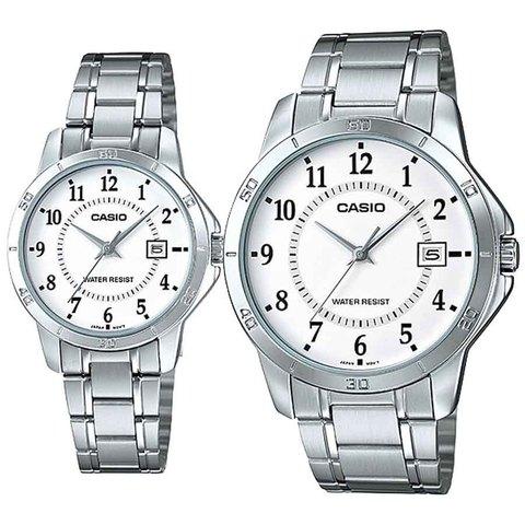 Купить Парные часы Casio Standard: MTP-V004D-7BUDF и LTP-V004D-7BUDF по доступной цене