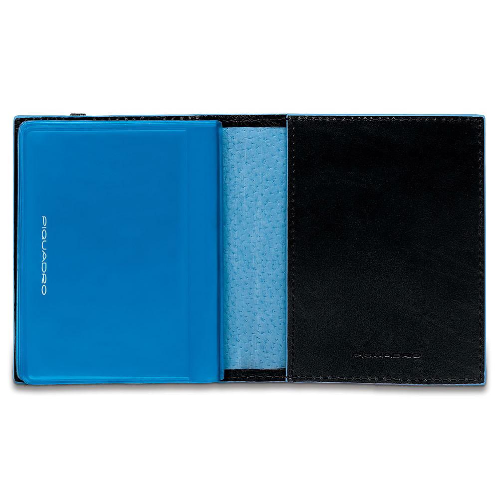 Чехол для кредитных/визитных карт Piquadro Blue Square, цвет черный, 8,8x10,5x1,2 см (PP1395B2/N)