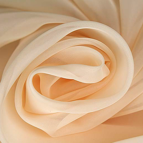 Вуаль для штор однотонная персиковая оптом. Высота - 280 см., 300 см. Арт. -6