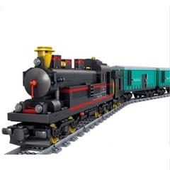 Конструктор серия Поезд Грузовой поезд с электромотором